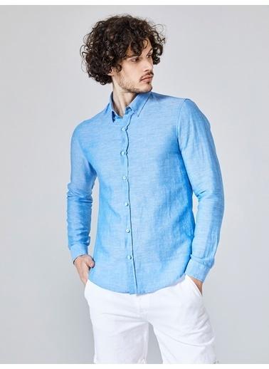 Xint Uzun Kollu Gömlek Turkuaz